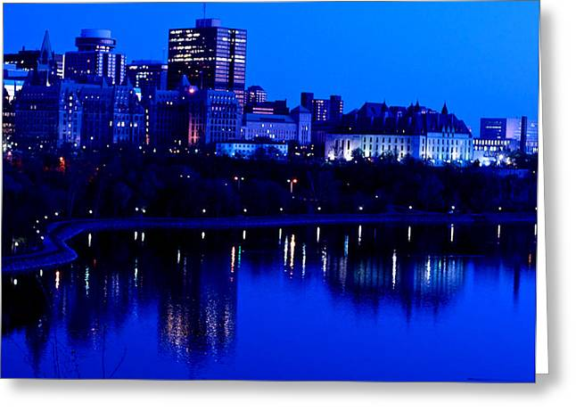 Cityscape Greeting Card by Andre Faubert
