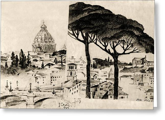Cityscape In Pairs  Greeting Card by Odon Czintos
