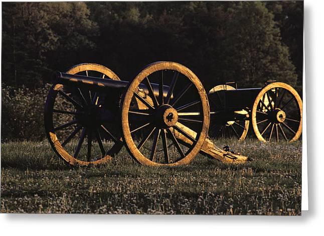 Civil War Cannon And Caisson, Manassas Greeting Card