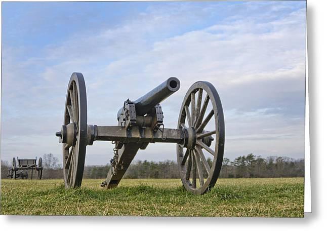 Civil War Cannon At Manassas National Battlefield Park - Virginia Greeting Card by Brendan Reals