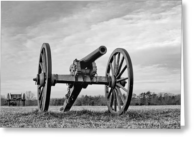 Civil War Canon - Manassas Battlefield - Virginia Greeting Card by Brendan Reals