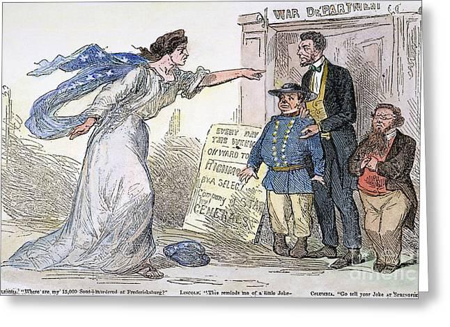 Civil War Cartoon Greeting Card by Granger