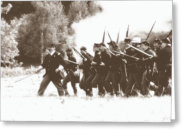 Civil War Charge Greeting Card