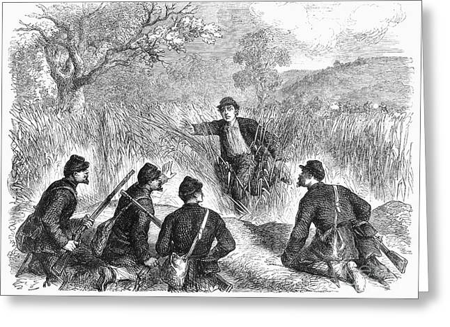 Civil War: Deserter. 1861 Greeting Card
