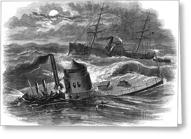 Civil War: Monitor Sinking Greeting Card by Granger