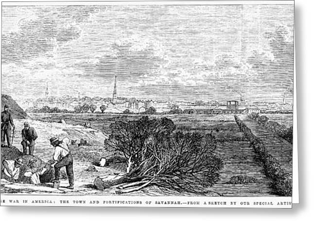 Civil War: Savannah, 1863 Greeting Card by Granger