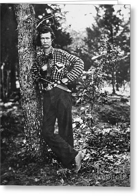 Civil War: Soldier, 1861 Greeting Card by Granger