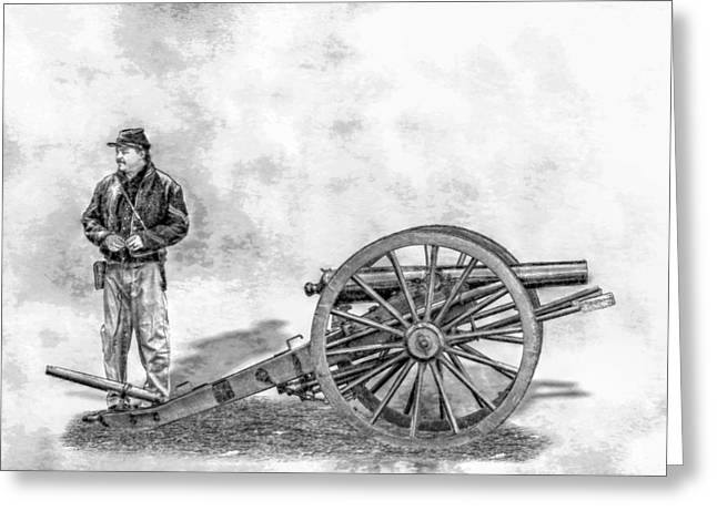 Civil War Union Artillery Corporal With Cannon Sketch