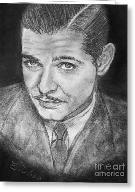 Clark Gable Greeting Card by Elisabeth Dubois
