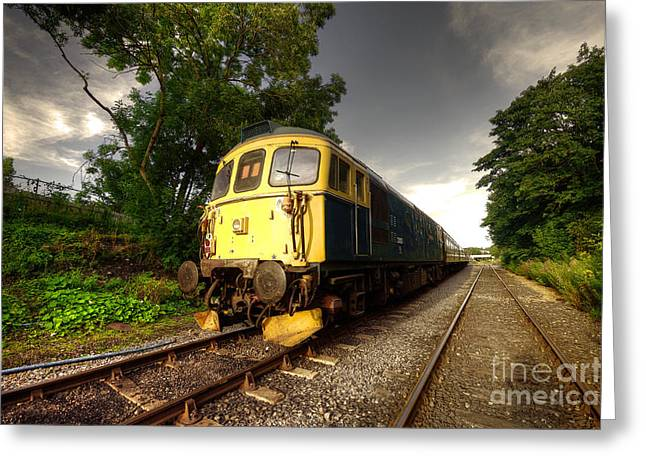 Class 33 At Bishop Auckland Greeting Card by Rob Hawkins