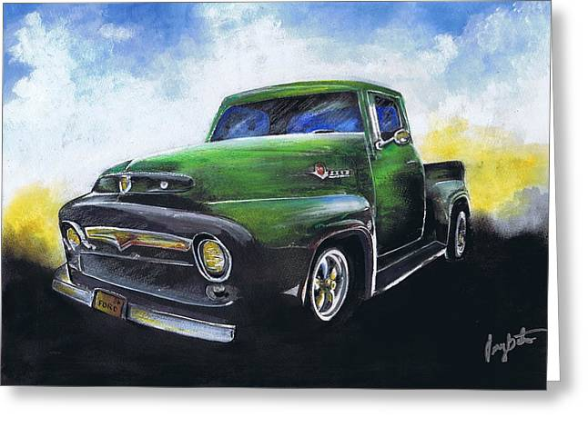 Classic 56 Ford Truck Greeting Card