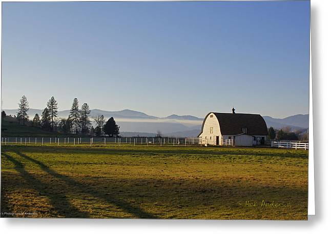 Classic Barn In The Country Greeting Card by Mick Anderson