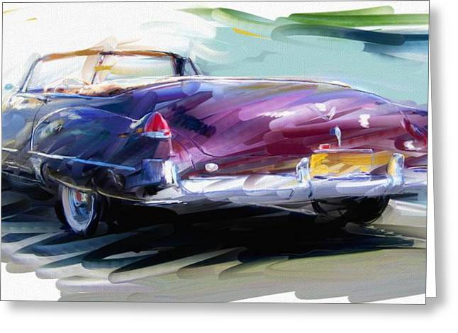 Classic Cadillac Convertible  Greeting Card