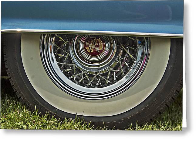 Classic Cadillac Wheel Greeting Card