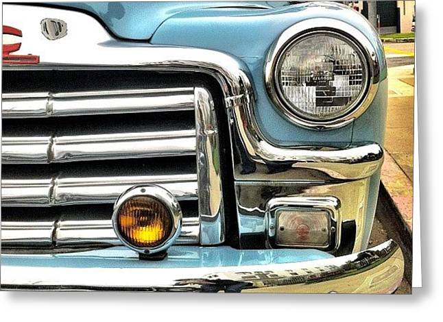 Classic Car Headlamp Greeting Card