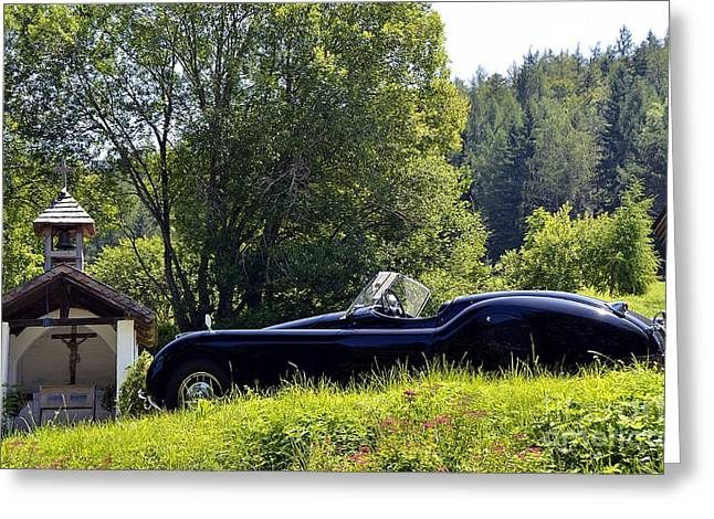Classic Car Jaguar Xk120 Greeting Card
