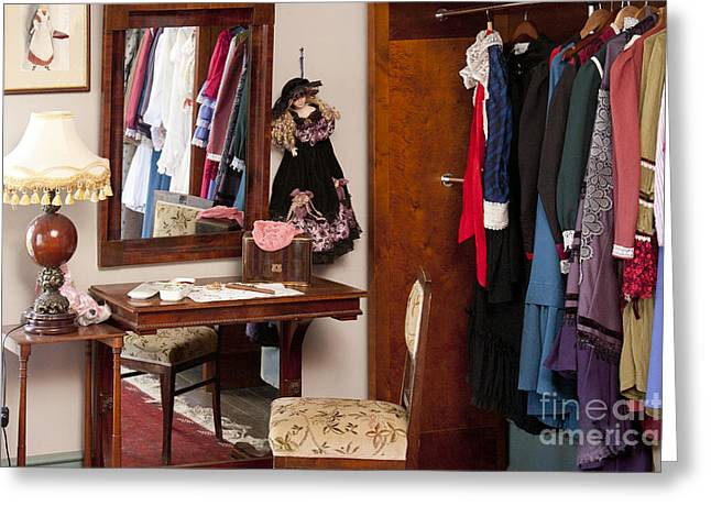 Classic Fashions In A Closet Greeting Card