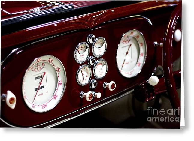 Classic Gauges Greeting Card by Jason Abando