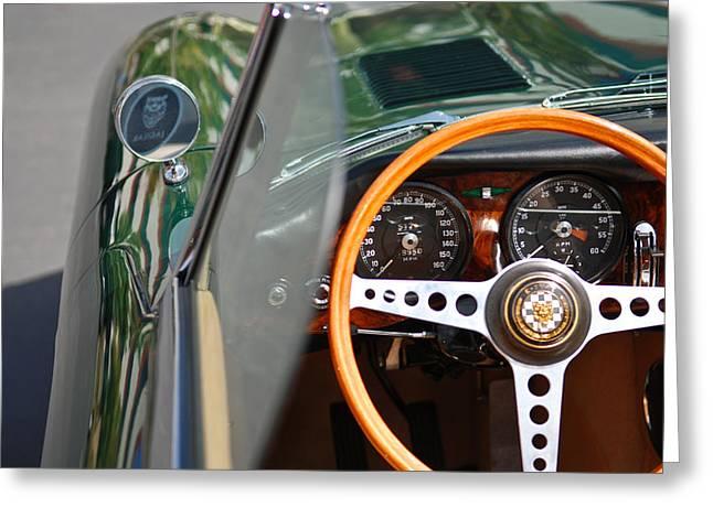 Classic Green Jaguar Artwork Greeting Card
