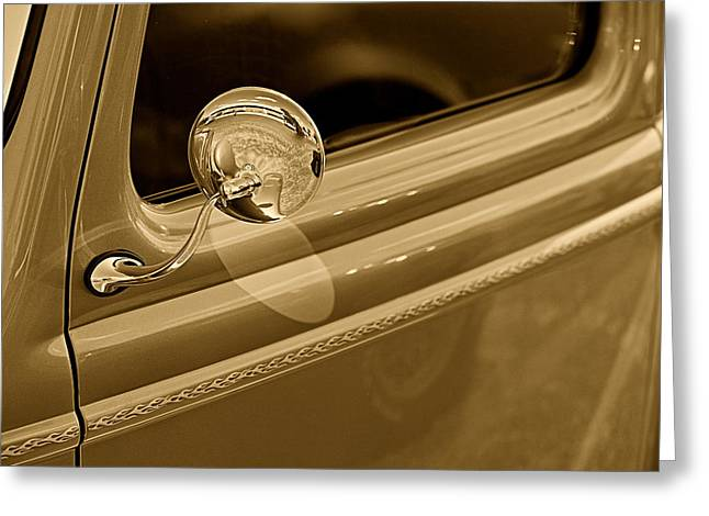 Classic Pickup Truck Door Greeting Card by M K  Miller