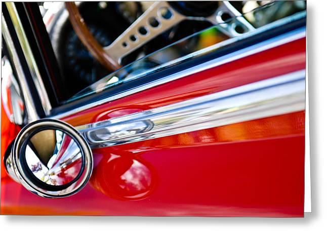 Classic Red Car Artwork Greeting Card
