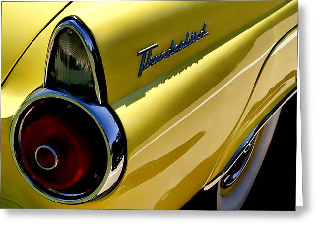 Classic T-bird Tailfin Greeting Card