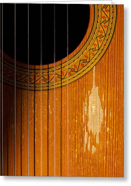 Classical Spanish Guitar Greeting Card by Perry Van Munster