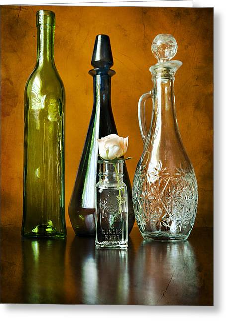 Classy Glass Greeting Card by Peter Chilelli