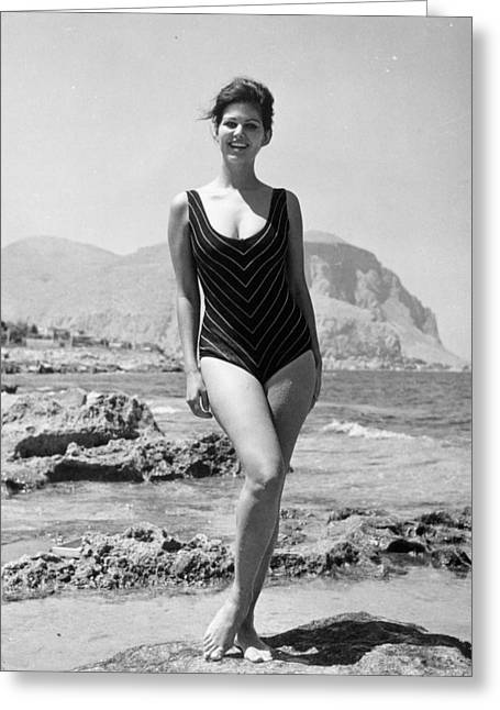 Claudia Cardinale (1939-) Greeting Card by Granger