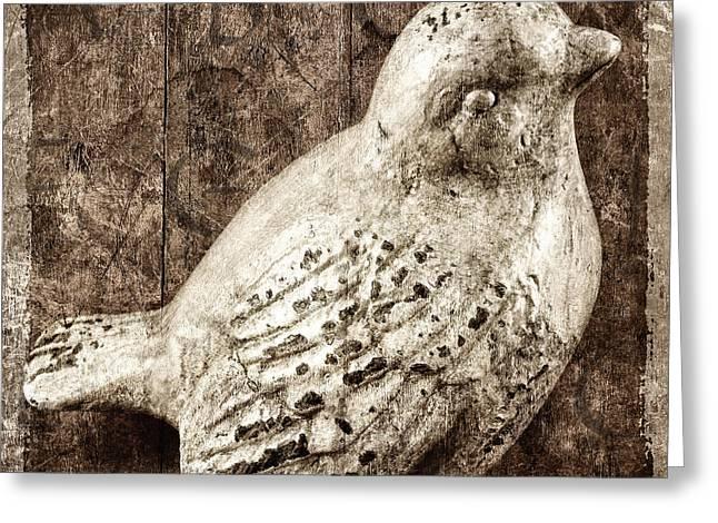 Clay Bird Greeting Card by Carol Leigh