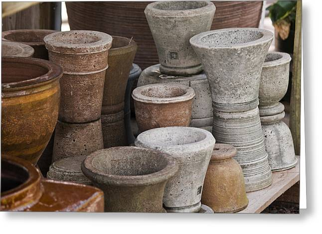 Clay Pots Greeting Card by Teresa Mucha