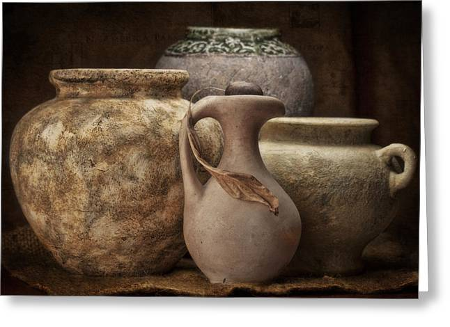 Clay Pottery I Greeting Card by Tom Mc Nemar