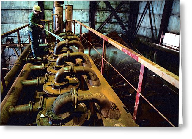 Cleaning Gold Mining Equipment Greeting Card by Ria Novosti