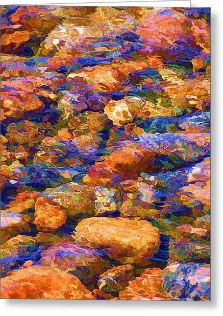 Greeting Card featuring the digital art Clear Creek Waters by Brian Davis