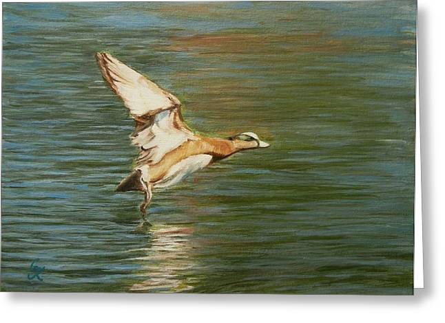 Clear For Takeoff Greeting Card by George Kramer