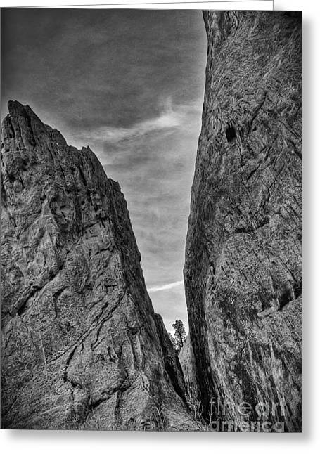 Cleft Of The Rock II Greeting Card by David Waldrop