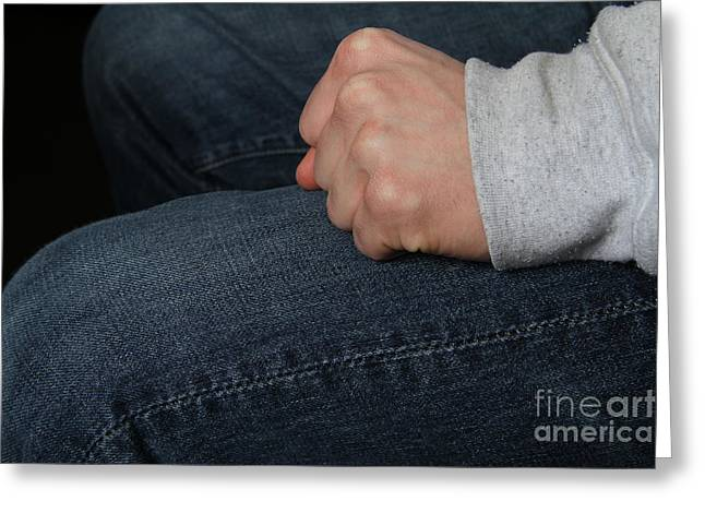 Clenched Fist 2 Of 2 Greeting Card