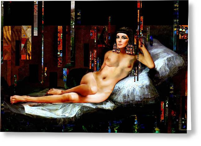 Cleopatra Nude Greeting Card