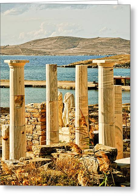 Cleopatras House On Delos Greeting Card