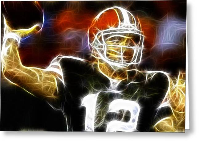 Cleveland Browns Colt Mccoy Greeting Card by Paul Van Scott
