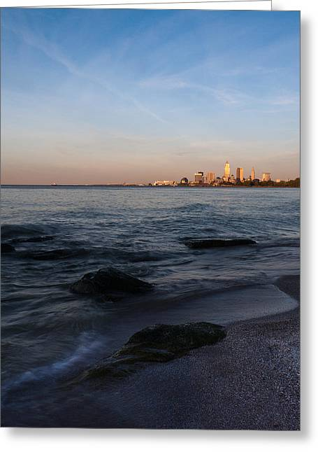 Cleveland From The Shadows Greeting Card