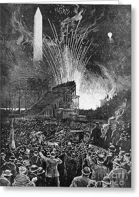 Cleveland Inauguration Greeting Card by Granger