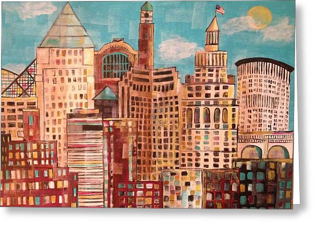 Cleveland Greeting Card by Kelli Perk
