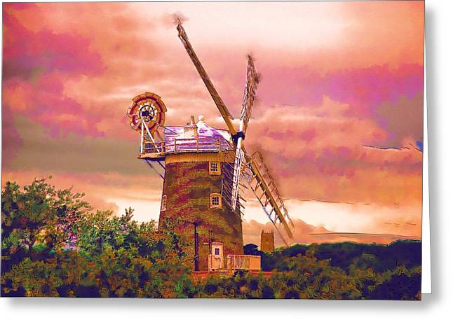 Cley Windmill 2 Greeting Card by Chris Thaxter