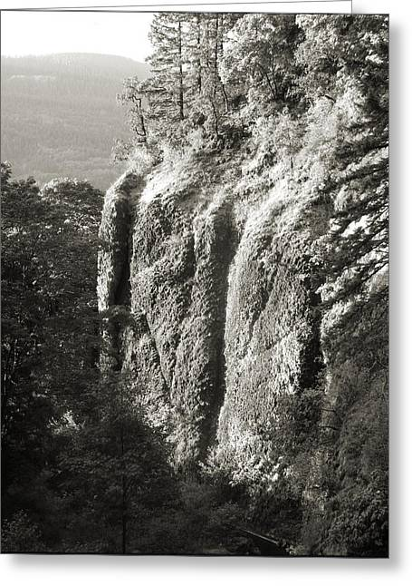 Cliff Face Columbia River Gorge  Greeting Card