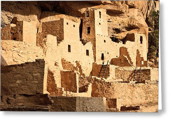Cliff Palace Greeting Card by Adam Pender