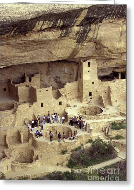 Cliff Palace Kiva Mesa Verde Greeting Card by John  Mitchell