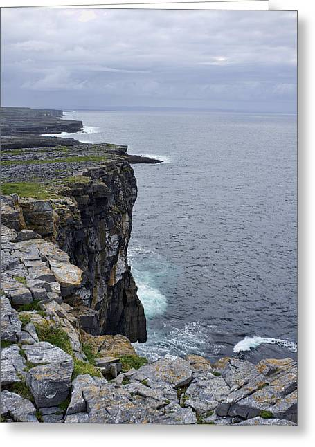 Greeting Card featuring the photograph Cliffs Of Inishmore by Hugh Smith
