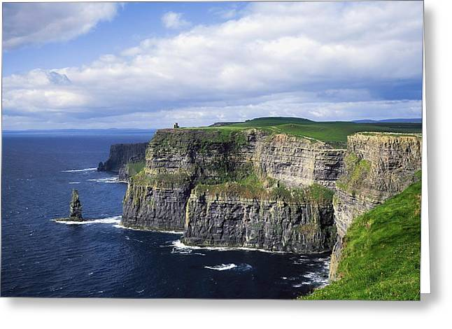 Cliffs Of Moher, Co Clare, Ireland Greeting Card by The Irish Image Collection