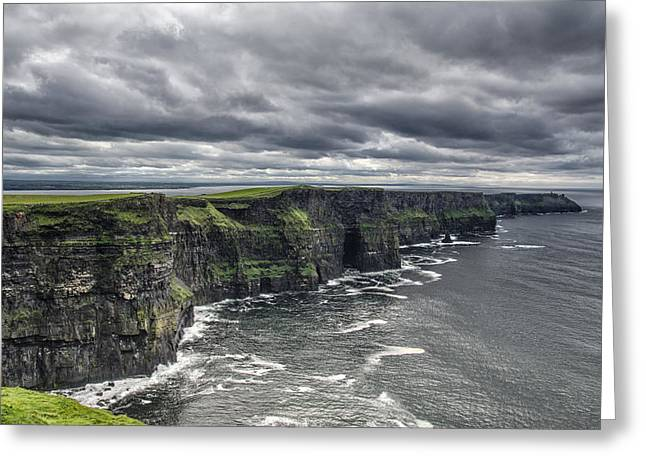 Cliffs Of Moher Greeting Card by John Mee